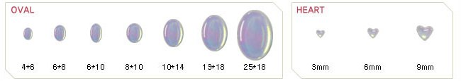 cabochon oval heart